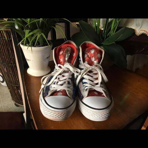 0f7c8a46f4e130 Converse Shoes - Patriotic Movable Sequin Converse